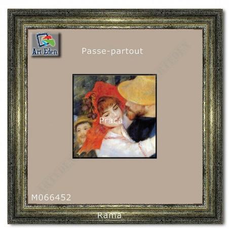 Passe-Partout szary z szarym przekrojem M066452