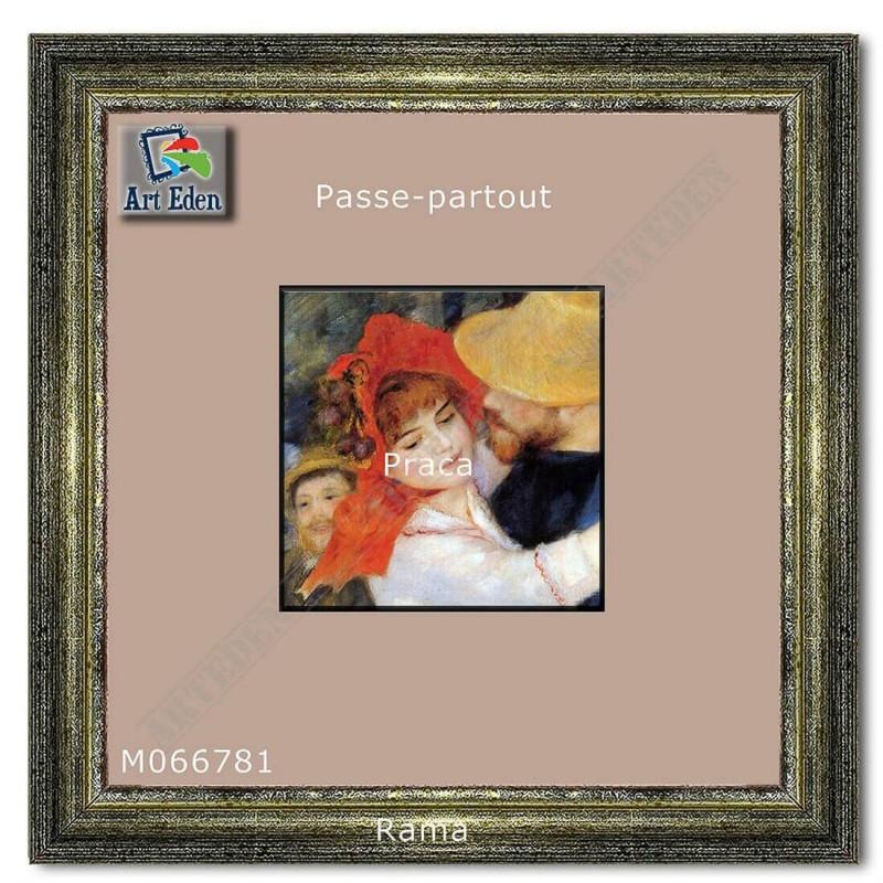 Passe-Partout beżowy z szarym przekrojem M066781