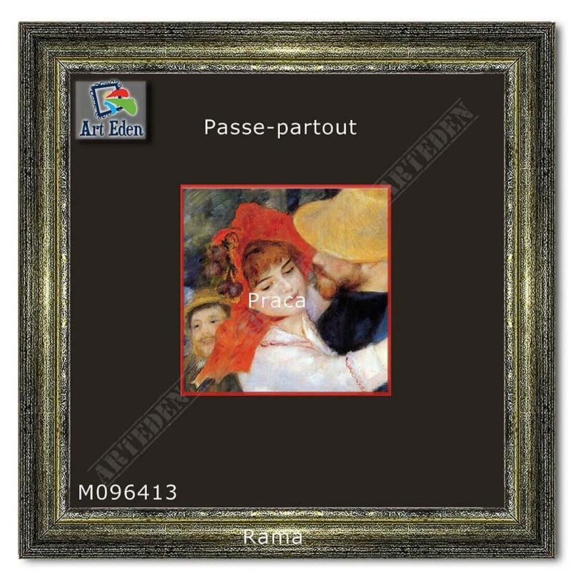 Passe-Partout czarny z czerwonym przekrojem M096413