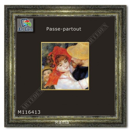 Passe-Partout czarny z żółtym przekrojem M116413