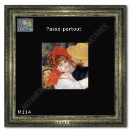 Welurowy Karton Passe-Partout czarny M114 sample