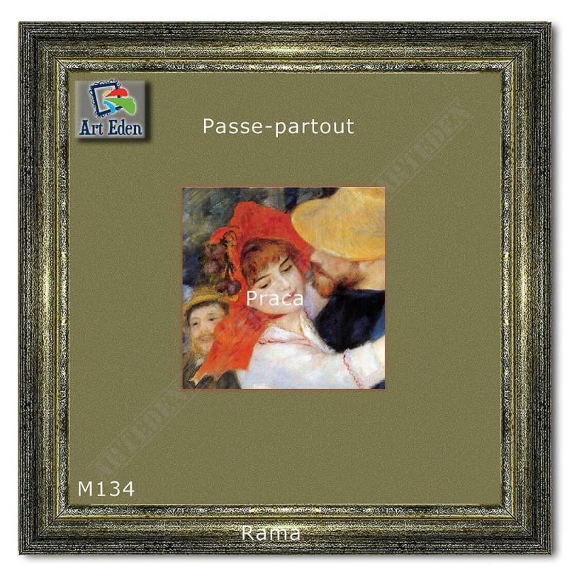 Welurowy Karton Passe-Partout jasna zieleń M134 sample