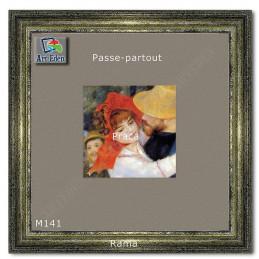 Welurowy Karton Passe-Partout popielaty M141 sample