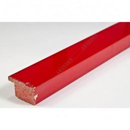 ABI118/32  25x15 - wąska, czerwona rama do obrazów i luster sample