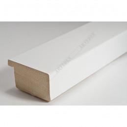 ABI366/30  40x20 - drewniana biała lak rama do obrazów i luster sample