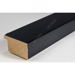 ABI366/31  40x20 - drewniana czarna lak rama do obrazów i luster sample