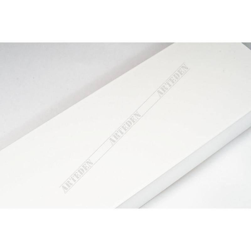 ABI370/30 72x20 - szeroka biała lak rama do obrazów i luster