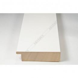 ABI370/30 72x20 - szeroka biała lak rama do obrazów i luster sample1