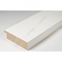 ABI370/30 72x20 - szeroka biała lak rama do obrazów i luster sample