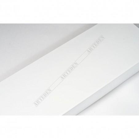 ASO327.83.009 68x20 - szeroka biała matowa rama do obrazów i luster