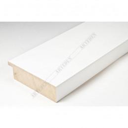 ABI370/40 72x20 - szeroka biała mat rama do obrazów i luster sample