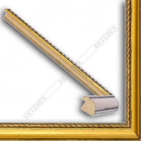 ASO111.23.043 23x15 - wąska cortesella złota rama do obrazów