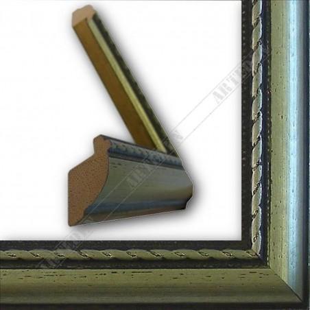 ASO111.23.044 23x15 - wąska cortesella srebrna rama do obrazów i luster sample