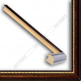 ASO111.23.087 23x15 - wąska cortesella orzech+złota rama do obrazów i luster sample
