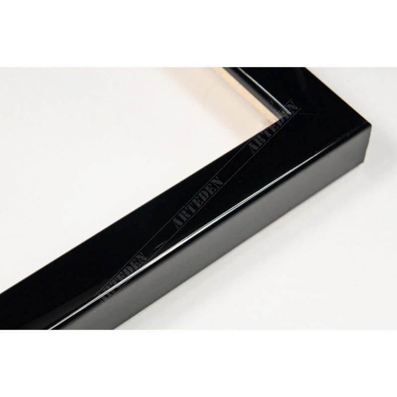 ASO127.31.045 14x15 - mała autore czarna lakowana ramka do zdjęć i obrazków