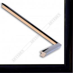 ASO127.31.045 14x15 - mała autore czarna lakowana ramka do zdjęć i obrazków sample