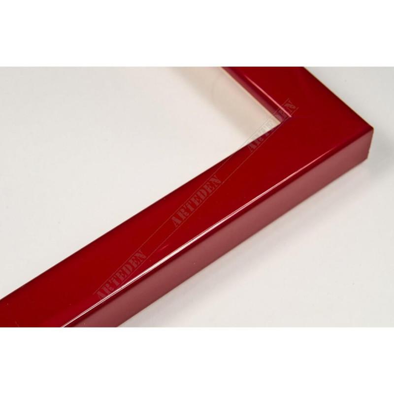 ASO127.31.046 14x15 - mała autore czerwona lakowana ramka do zdjęć i obrazków