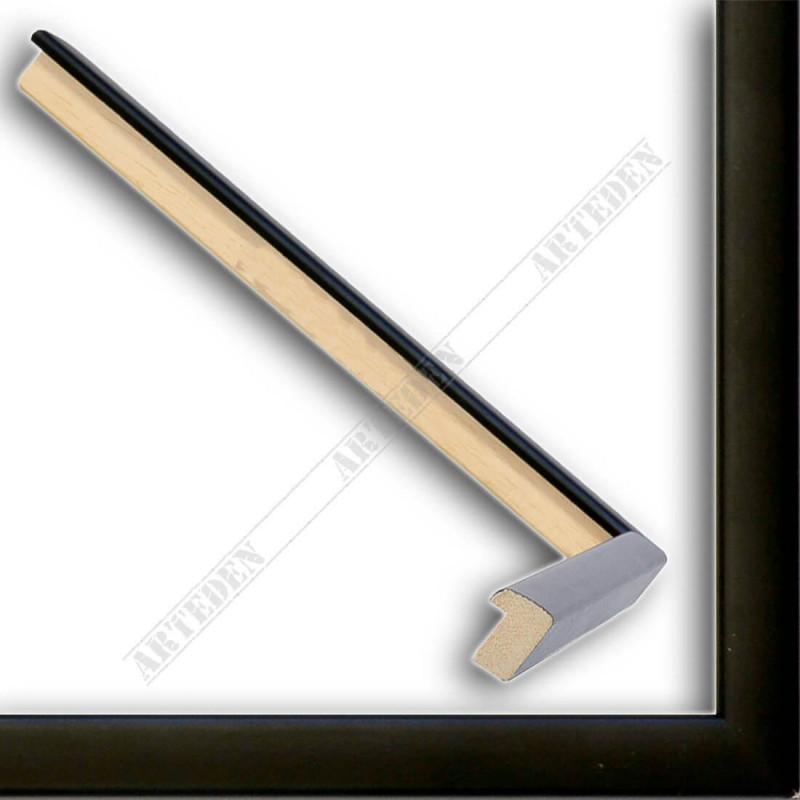 ASO127.33.500 14x15 - mała czarna mat ramka do zdjęć i obrazków