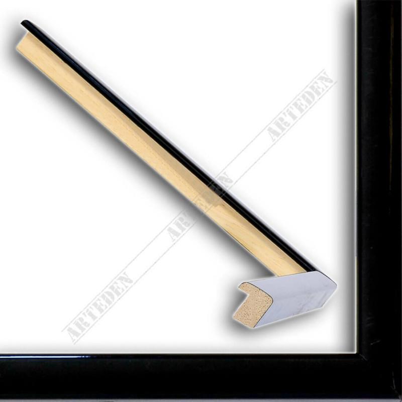 ASO127.33.545 14x15 - mała czarna połysk ramka do zdjęć i obrazków