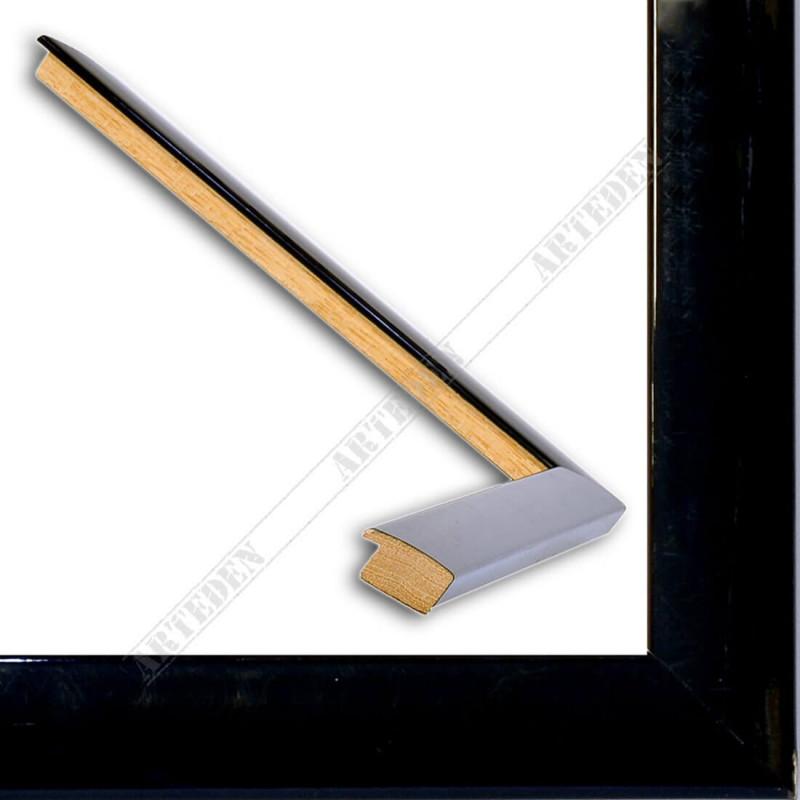 ASO127.41.045 23x14 - wąska autore czarna lakowana rama do zdjęć i luster