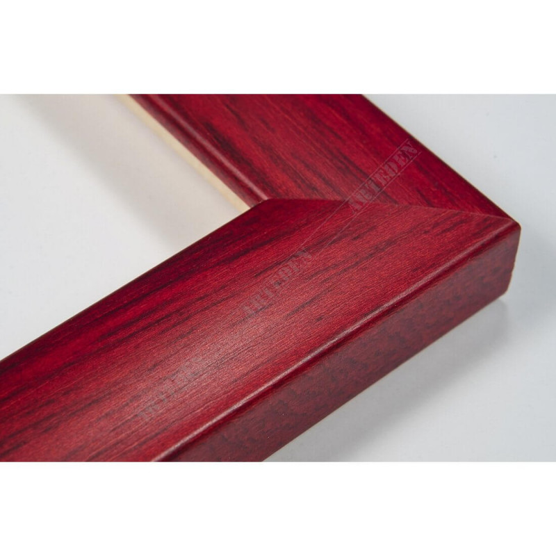 ASO127.43.039 23x14 - wąska autore czerwona rama do zdjęć i luster