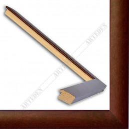 ASO127.43.085 23x14 - wąska autore mahoniowa rama do zdjęć i luster