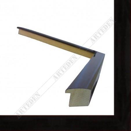 ASO127.43.111 23x14 - wąska bordowa trendy rama do zdjęć i luster
