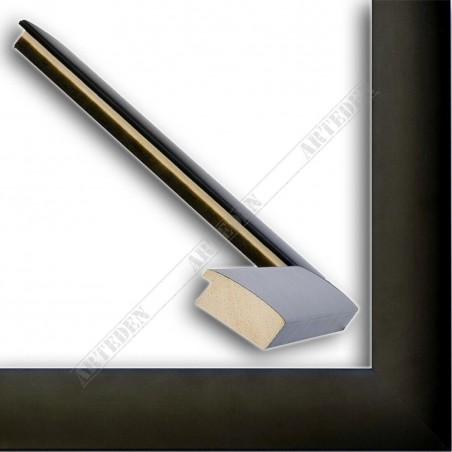 ASO127.83.500 23x15 - wąska czarna mat rama do zdjęć i luster