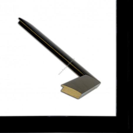 ASO127.83.545 23x15 - wąska czarna z połyskiem rama do zdjęć i luster