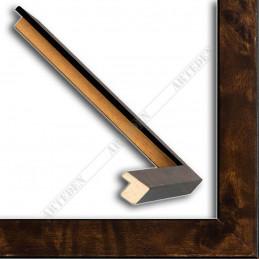 ASO225.31.086 15x14 - mała classic orzechowa ramka do zdjęć i obrazków sample