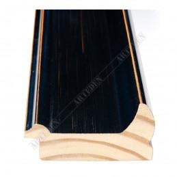 INK2558.471 70x30 - drewniana czarna rama do obrazów i luster sample