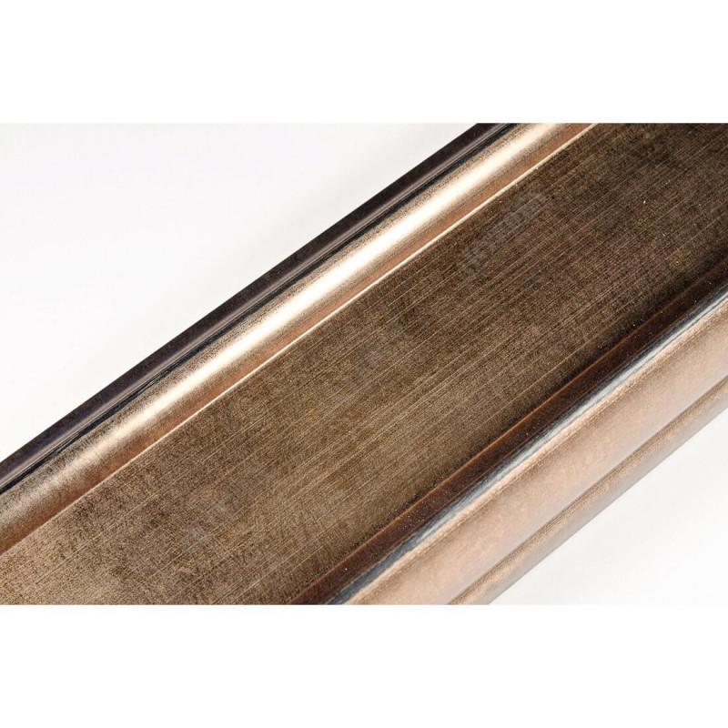 INK2558.773 70x30 - drewniana brąz metaliczna rama do obrazów i luster