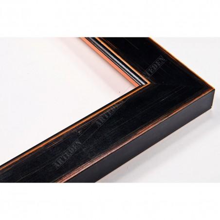 INK2810.471 28x15 - wąska czarna mat rama do zdjęć i luster