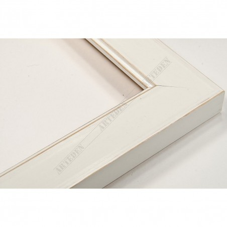 INK2810.481 28x15 - wąska biała mat rama do zdjęć i luster