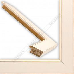 INK2810.481 28x15 - wąska biała mat rama do zdjęć i luster sample