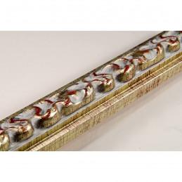 INK3082.647 28x16 - wąska srebrna dekor rama do zdjęć i luster
