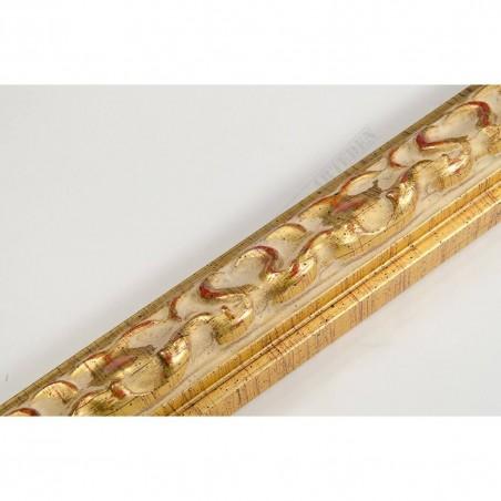 INK3082.747 28x16 - wąska złota dekor rama do zdjęć i luster