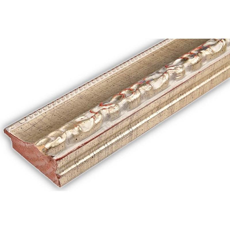 INK3083.647 55x30 - drewniana srebrna dekor rama do obrazów i luster