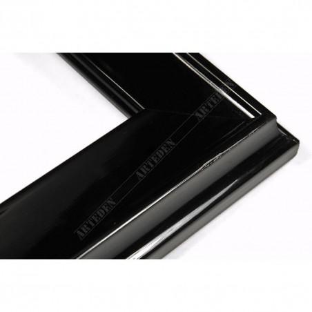 INK5301.174 35x18 - drewniana czarna połysk rama do obrazów i luster