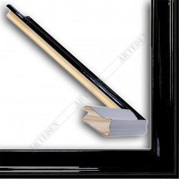 INK5301.174 35x18 - drewniana czarna połysk rama do obrazów i luster sample