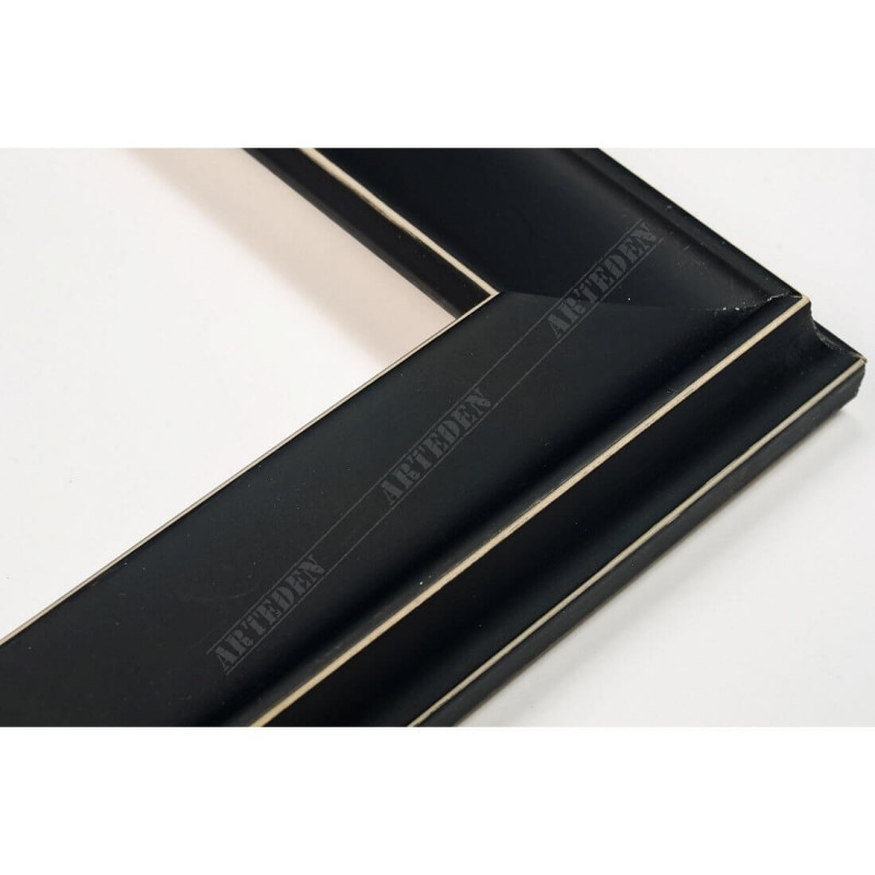 INK5301.470 35x18 - drewniana czarna mat rama do obrazów i luster