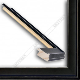 INK5301.470 35x18 - drewniana czarna mat rama do obrazów i luster sample