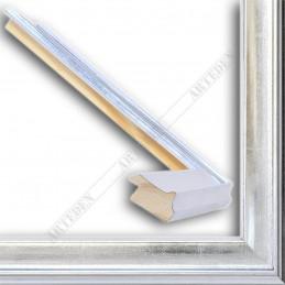 INK5301.675 35x18 - drewniana srebrna rama do obrazów i luster sample