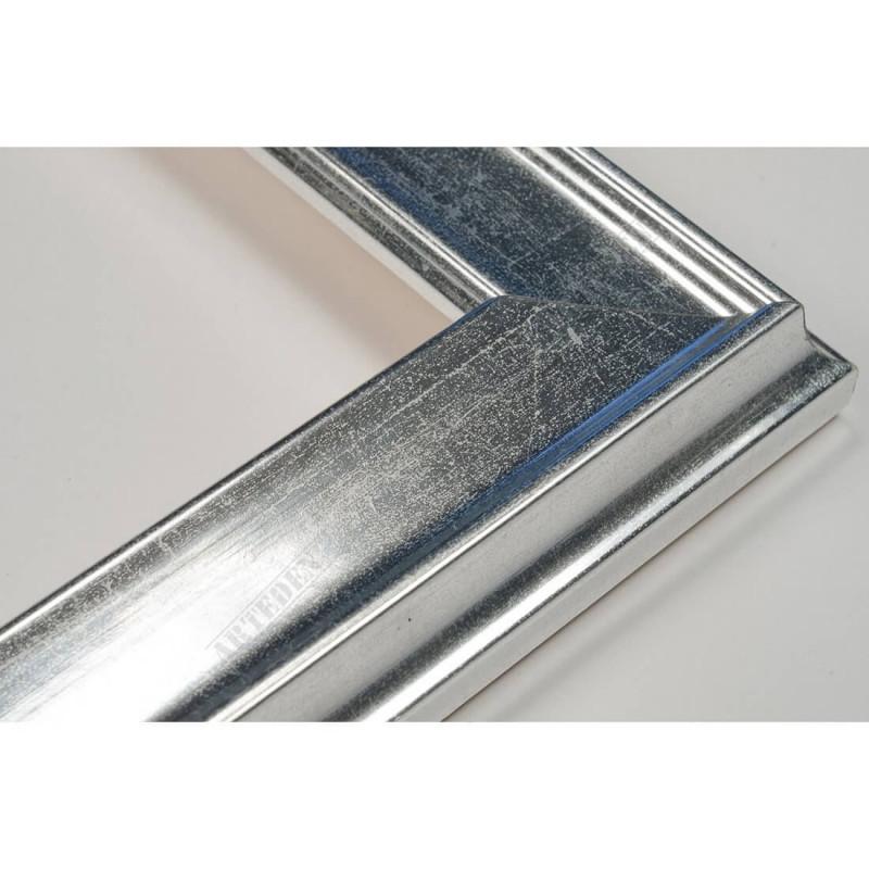 INK5301.675 35x18 - drewniana srebrna rama do obrazów i luster