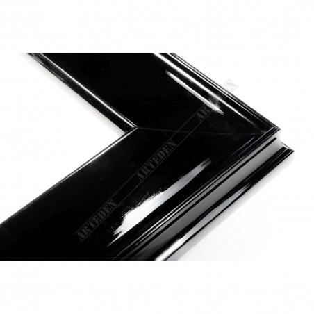 INK5302.174 50x24 - drewniana czarna połysk rama do obrazów