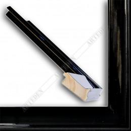 INK5302.174 50x24 - drewniana czarna połysk rama do obrazów i luster sample