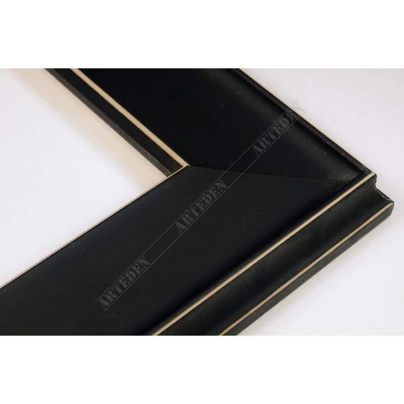 INK5302.470 50x24 - drewniana czarna mat rama do obrazów i luster