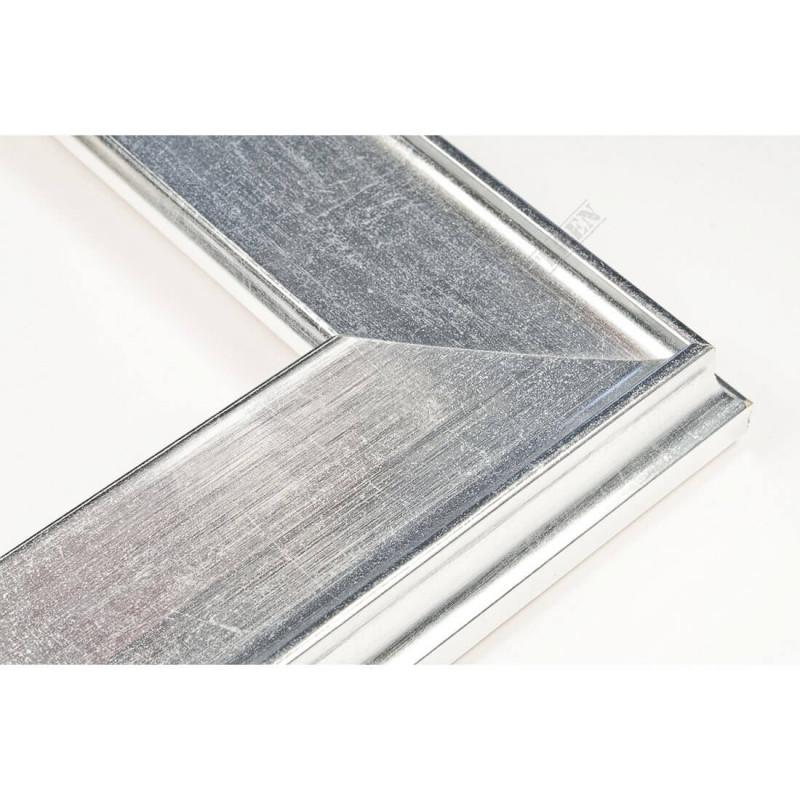 INK5302.675 50x24 - drewniana srebrna rama do obrazów i luster