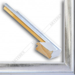 INK5302.675 50x24 - drewniana srebrna rama do obrazów i luster sample