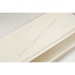INK5303.486 90x33 - szeroka avorio rama do obrazów i luster